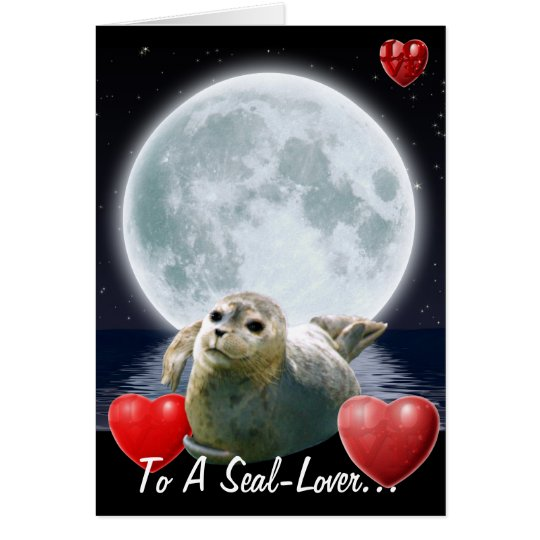 Cute Seal-lover Birthday Card