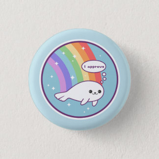 Cute Seal of Approval 3 Cm Round Badge