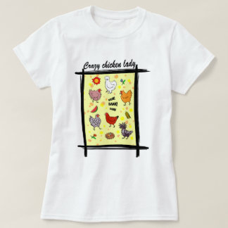 Cute seamless chickens pattern cartoon T-Shirt