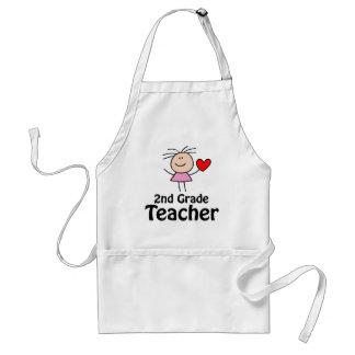 Cute Second Grade Teacher School Apron