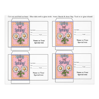 Cute Seed Packet Gift or Favor Personalized Flyer