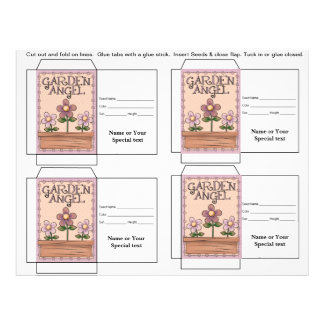 Cute Seed Packet Gift or Favor Full Color Flyer