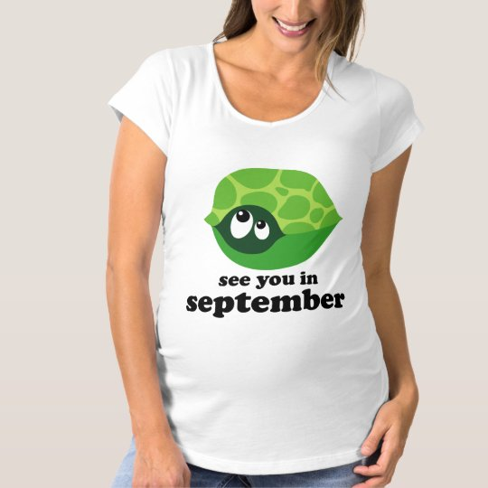 Cute September Due Date Turtle Maternity T-shirt