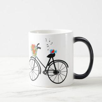 Cute Shabby Chic Vintage Bike Mugs