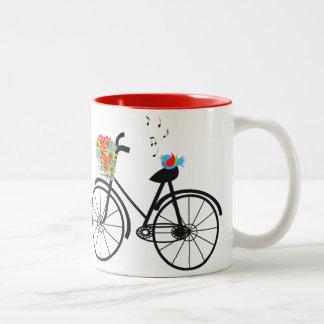 Cute Shabby Chic Vintage Bike Coffee Mug