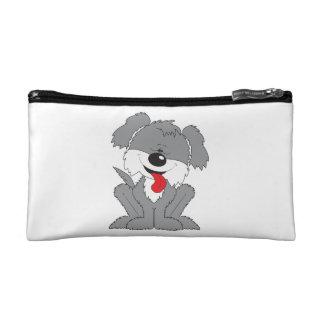 Cute Shaggy Puppy Cartoon Cosmetic Bag