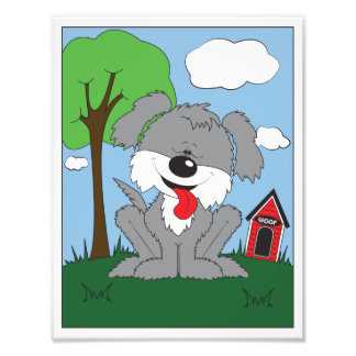 Cute Shaggy Puppy Cartoon Photograph