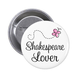 Cute Shakespeare Lover 6 Cm Round Badge