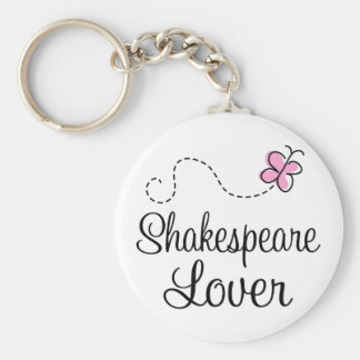Cute Shakespeare Lover Basic Round Button Key Ring