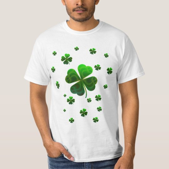 Cute Shamrocks Design T-Shirt