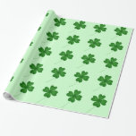 Cute shamrocks for St. Patrick's Day Gift Wrap
