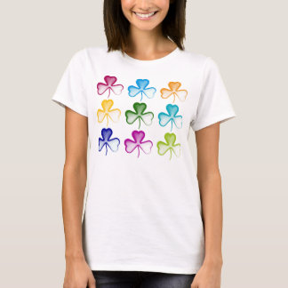Cute Shamrocks Pattern T-Shirt