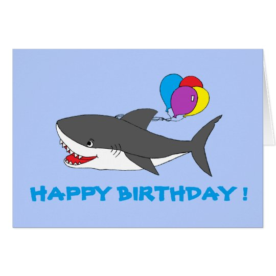 Great White Shark Birthday Card The Largest Shark