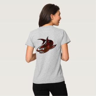 cute shark design geek t-shirt