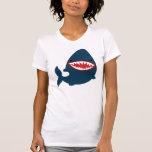 Cute Shark T-shirt Women's Apparel