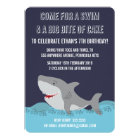 Cute Shark Theme Pool Party Boys Birthday Invite
