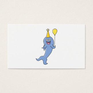 Cute Shark with Birthday Balloon. Business Card