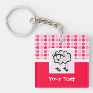 Cute Sheep Acrylic Key Chains