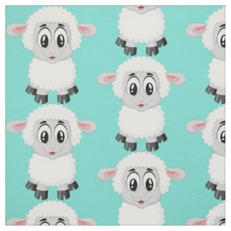 Cute sheep animal baby kids nursery colorful fabric