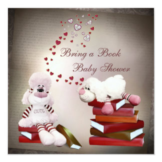 Cute Sheep Bring a Book Baby Shower Card