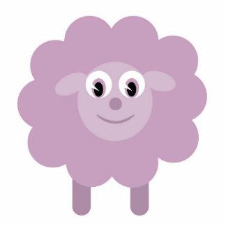 Cute sheep brooch photo sculpture badge