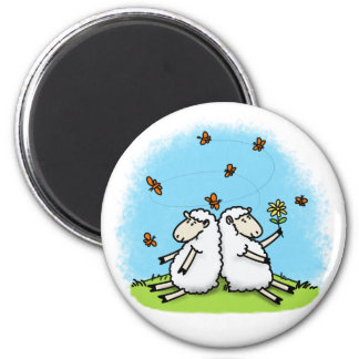 Cute sheep cartoon magnet. magnet