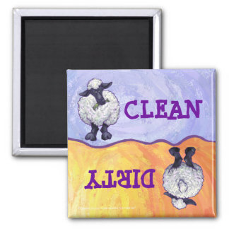 Cute Sheep Clean / Dirty Dishwasher Magnet