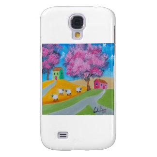 Cute sheep colorful folk art picture samsung galaxy s4 cover