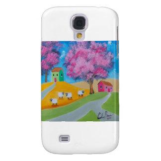Cute sheep colorful folk art picture galaxy s4 case