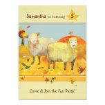 Cute Sheep: Cute Kids Birthday Party Invitations