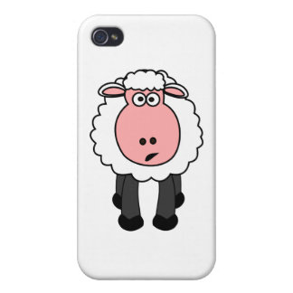 Cute Sheep Design Cover For iPhone 4