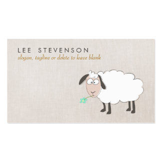 Cute Sheep Drawing Child s Business Card Templates