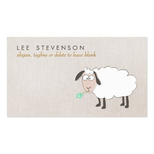 Cute Sheep Drawing Child's Business Card Templates