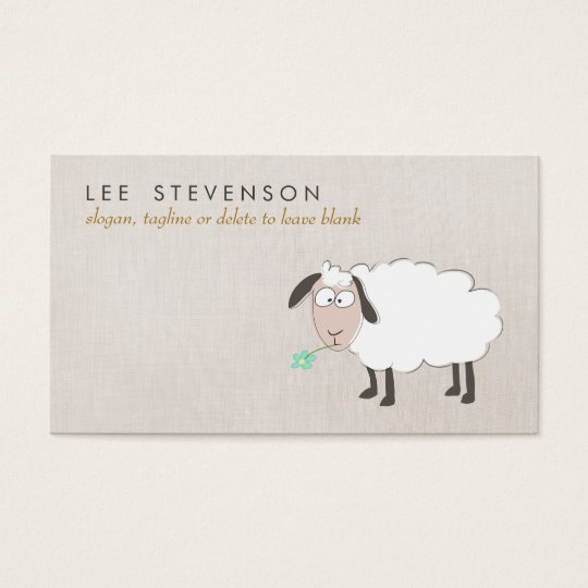 Cute Sheep Drawing Child's Business Card