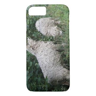 Cute Sheep Eating Leaves iPhone Case
