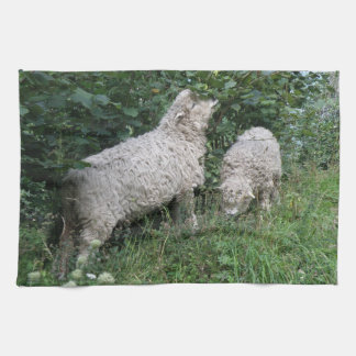 Cute Sheep Eating Leaves Kitchen Towels