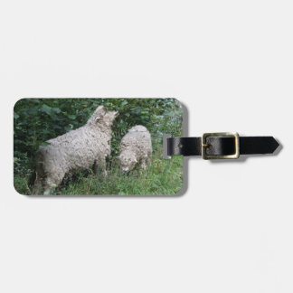 Cute Sheep Eating Leaves Personalized Luggage Tag