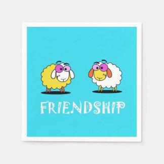 Cute Sheep Friendship Paper Napkin