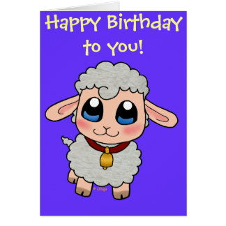 Cute Sheep Greeting Card