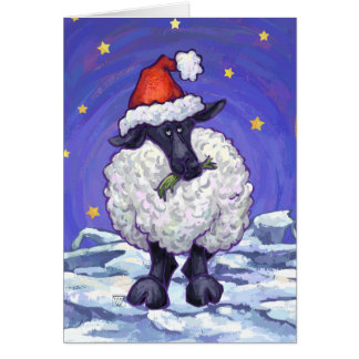 Cute Sheep Holiday Card