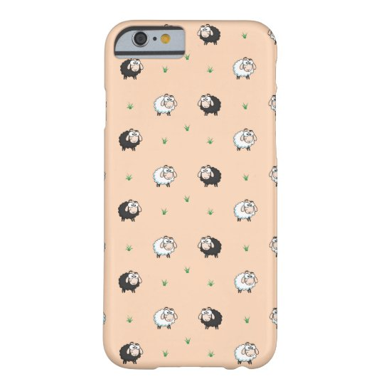 Cute Sheep Lamb Pattern Barely There iPhone 6