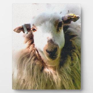 CUTE SHEEP PLAQUE