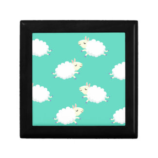 Cute sheep repeating pattern gift box