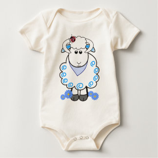 Cute sheep with lady bug baby bodysuit