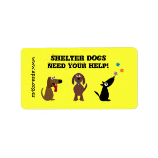 Cute Shelter Dogs Need Your Help Charity Address Label