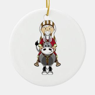 Cute Shepherd & Horse Ornament