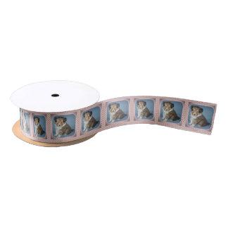 Cute Shetland Sheepdog Puppy Dog Satin Gift Ribbon Satin Ribbon
