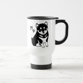 Cute Shiba Inu Puppy Art Travel Mug