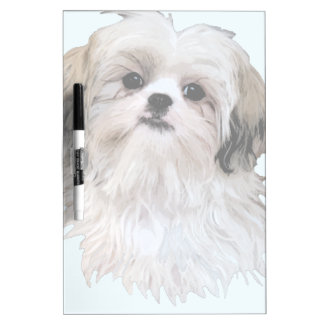 Cute Shih Tzu Art Dry Erase Board