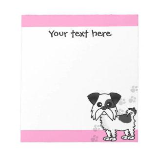 Cute Shih Tzu Black and White - Pink Notepads
